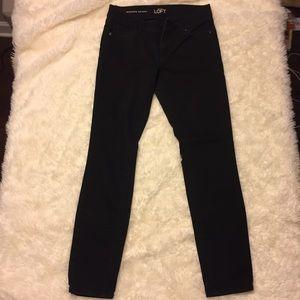 LOFT Modern Skinny Black Denim Pants